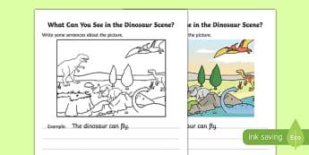 Dinosaur Writing Stimulus Scene