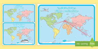 World Map Display Posters Arabic - Arabic/English - الإنجليزية / العربية-Arabic-translation - World Map, Display Posters, Holiday, Travel agent, travel, role play, EAL, Arabic