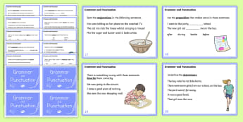 Year 4 Grammar and Punctuation Challenge Cards - grammar, punctuation, cards, year 4, spag, english, literacy, challenges, activity, activities, ks2, y4, y 4, year4