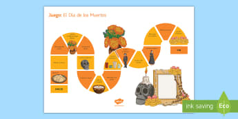 KS3 Mexican Day of the Dead Board Game Spanish - Halloween, Day, Dead, Vocabulary, Spellings, Mexico, Traditions, Festivities, Celebrations
