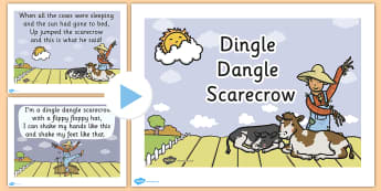 Dingle Dangle Scarecrow Nursery Rhyme PowerPoint - scarecrow