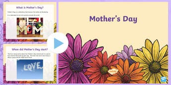 Mother's Day PowerPoint - CfE Mother's Day March 26thMother's Day around the worldMother's day traditions,Scottish