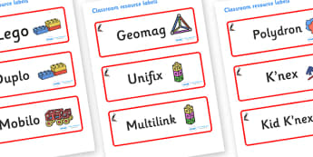 Puffin Themed Editable Construction Area Resource Labels - Themed Construction resource labels, Label template, Resource Label, Name Labels, Editable Labels, Drawer Labels, KS1 Labels, Foundation Labels, Foundation Stage Labels
