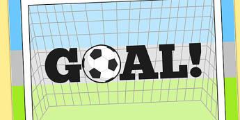 Goal Display Poster - display, poster, goal, football, themed