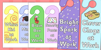 At Work Reward Door Hangers - at work reward door hangers, at work, reward, door hangers, door, hangers, rewards, award, work, sign, label