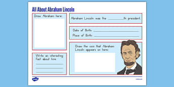 Abraham Lincoln Graphic Organizer - presidents day, usa, abraham lincoln worksheet, graphic organizer