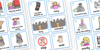 SEN Communication Cards Out and About (Girl) - SEN, communication cards, out and about, my environment, Visual Timetable, SEN, Daily Timetable, girls, School Day, Daily Activities, Daily Routine KS1