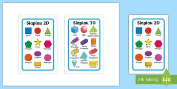 FFrâm Ikea Tolsby Siapiau 2D a 3D - sgwar, cylch, triongl, ciwb, ciwboid, cuboid, sqaure, circle.,Welsh
