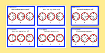 Year 2 Maths Time Challenge Cards - year 2, maths, challenge cards, challenge, cards, time