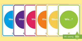 Fragewörter Poster für die Klassenraumgestaltung  - Fragewörter, Fragen, DAF, DAZ, Poster, Deutsch