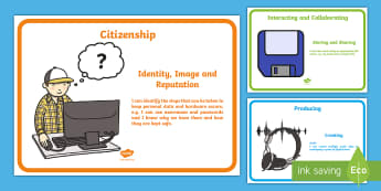 I can Digital Competence Statements for Year 2 Display Pack - DCF, Dcf, DCF Display, I Can Statements, Nursery, ICT, display resources, reception, year 1, year 2,