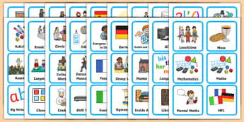 KS1 Visual Timetable - Visual Timetable, SEN, Daily Timetable, School Day, Daily Activities, Daily Routine KS1, Foundation Stage