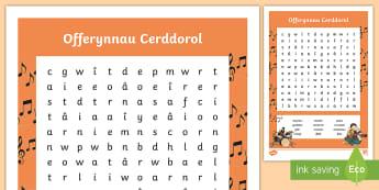 Offerynnau Cerddorol Chwilair - offerynnau, instruments, cerdd, music, chwilair,Welsh