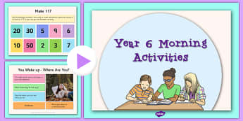 Year 6 Morning Activities - year 6, morning, activities, morning activities, supply teacher, supply