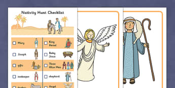 Nativity Hunt Activity Pack - packs, sack, sacks, bundle, bundles