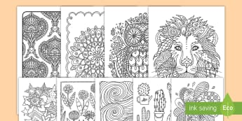 Mindfulness Coloring Pages Bumper Activity Pack - bumper pack, coloring, sheets, activity, designs, creativity