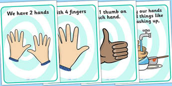 Keep Your Hands To Yourself Display Posters - hands, good bahviour, keep your hands to yourself, doing good things, do not hit, be kind, behaviour management, rules, good manners