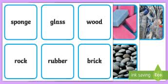 Materials Photo Matching Cards Activity - Materials Sorting Cards Activity - materials, science, matching cards, sorting cards, investigation,