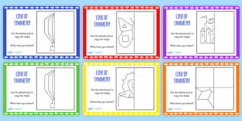 Reflection Symmetry Drawing Maths Challenge Cards - reflect, math