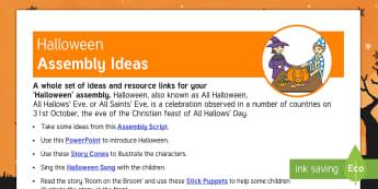 Halloween Assembly Teaching Ideas - Halloween, All Hallows Eve, assembly, convocation, ideas