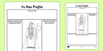 Fu Hao Profile Activity Sheet - fu hao, lady fu hao, profile, activity sheet, worksheet