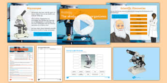 Y7 Introduction to Science Lesson 4 Biology How to Use a Microscope Lesson Pack  - Career, discoveries, inventions, microscopes, slide, equipment, practical, small