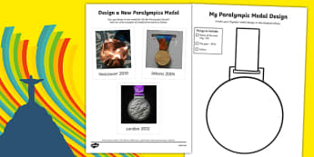 Rio 2016 Paralympics Design a New Medal SEN Activity Sheet, worksheet