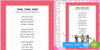Love Love Love Song - Valentine's day, love, hearts, friend, partner