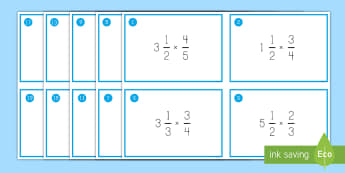 Multiplying Fractions by Mixed Numbers Task Cards - mixed numbers, fractions, multiplication, improper fractions, problem Solving