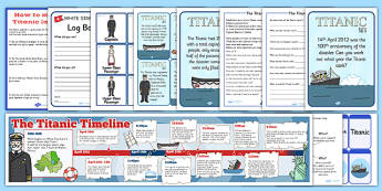 The Titanic Lapbook Creation Pack - lapbook pack, titanic, create