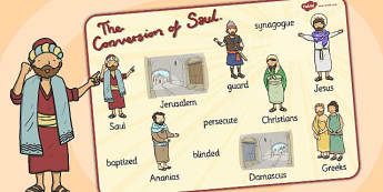 The Conversion of Saul Word Mat - mats, words, literacy, visual, road to damascus