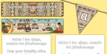 Samoa Language Week 2017 Display Pack - samoa, language, week, events