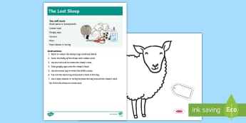 The Lost Sheep Artwork for First Communion Craft Instructions - Confession & First Communion Resources,Irish