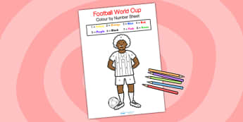 Football World Cup Colour by Number - football, world cup, colour