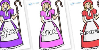 Connectives on Little Bo Peep - Connectives, VCOP, connective resources, connectives display words, connective displays