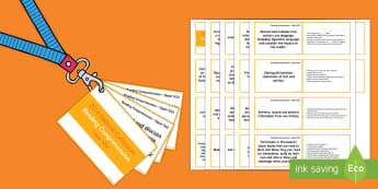 Upper KS2 Lanyard Sized Reading Comprehension Objectives Cards - KS2, reading comprehension, Year 5, Year 6, reading guidance, assessment, guided reading, question p