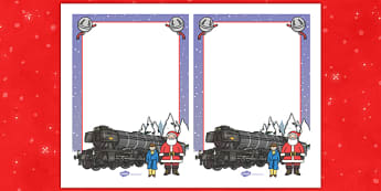 Christmas Train Journey Editable Note - christmas train journey, editable, notes