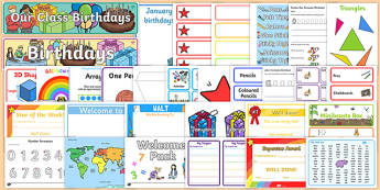 New Classroom Set Up Resource Pack for KS1 - September, Classroom, Display, Calendar, Visual Timetable, Resource Pack, KS1, Ideas