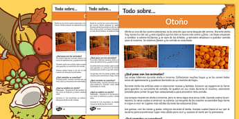 Autumn Differentiated Fact File Spanish-Spanish