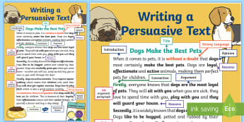 Writing a Persuasive Text Display Poster - Persuasive writing, point of view, opinion, nAPLAN, English curriculum,Australia