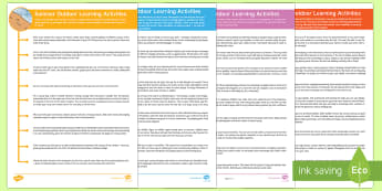 Outdoor Learning for the Four Seasons Activity Pack - spring, summer, autumn, winter, early years, outdoor learning, weather, changes, seasonal change, ac