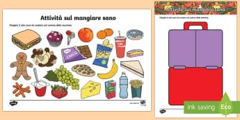 Attività Mangiare una Merenda Sana Esercizio - attivita, esercizio, merenda, alimentazione, salutare, italiano, italian