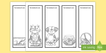 Pet Themed Mindfulness Bookmarks - Pets, cat, dogs, rabbits, budgie, guinea pig, hamster, snake,