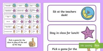 Classroom Reward Information Cards - Classroom Management and Organization, reward, class, classroom, organization, classroom reward syst