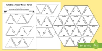 What Is a Proper Noun? Tarsia Puzzle Activity - what is a proper noun?, proper noun, common noun, nouns, proper, words, word type, word class, SPaG,