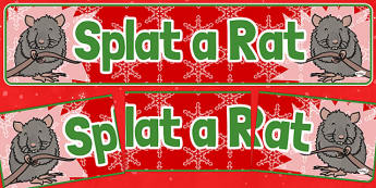 Christmas Themed Splat a Rat Banner - christmas fair, display banner, display, banner, splat a rat