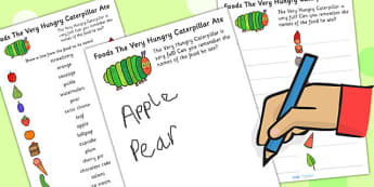 Food The Hungry Caterpillar Ate Sorting Activity - story books