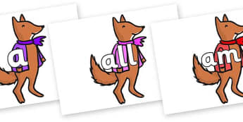Foundation Stage 2 Keywords on Small Fox 4 to Support Teaching on Fantastic Mr Fox - FS2, CLL, keywords, Communication language and literacy,  Display, Key words, high frequency words, foundation stage literacy, DfES Letters and Sounds, Letters and S