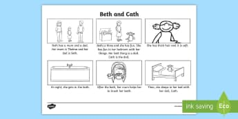 Phase 3 'th' Phoneme Spotter Story  - English, Reading, stories, Phonics, Letters and Sounds, graphemes, EYFS, Reception, Year One, Year T