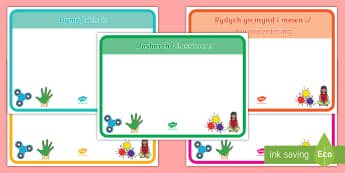 Classroom Welcome Signs A4 Display Poster English/Welsh - display, welsh, welcome to, classroom signs, Welsh display,Welsh